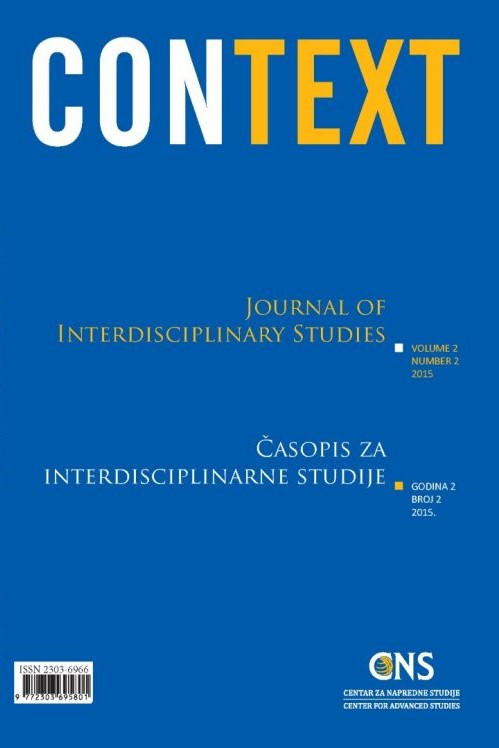 View Vol. 2 No. 2 (2015): Context: Journal of Interdisciplinary Studies