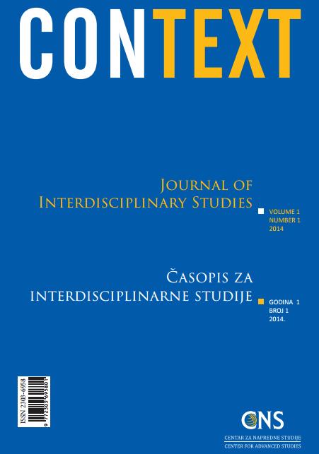 View Vol. 1 No. 1 (2014): Context: Journal of Interdisciplinary Studies