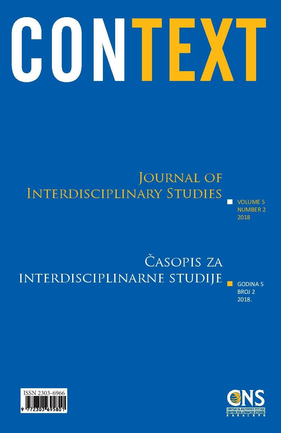 View Vol. 5 No. 2 (2018): Context: Journal of Interdisciplinary Studies