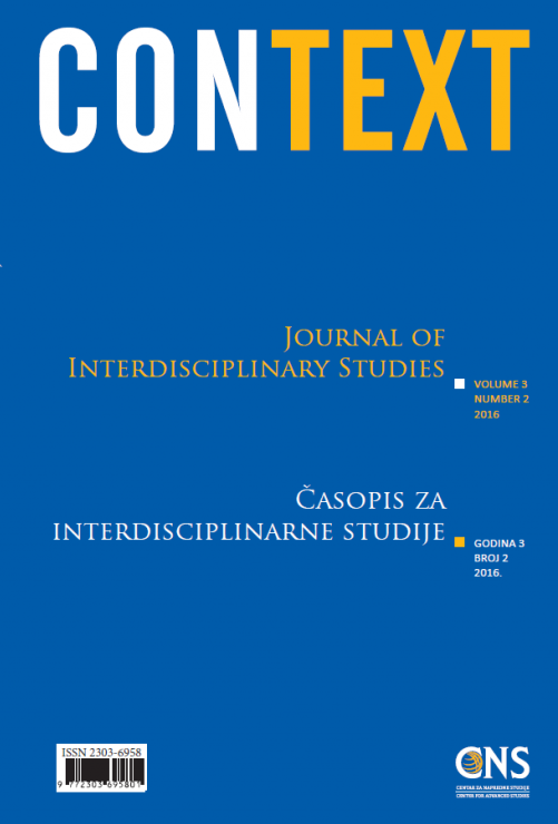 View Vol. 3 No. 2 (2016): Context: Journal of Interdisciplinary Studies