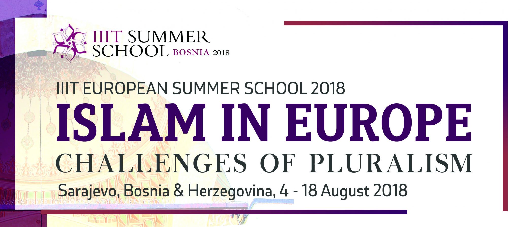 Call for Applications: IIIT European Summer School Islam in Europe: Challenges of Pluralism