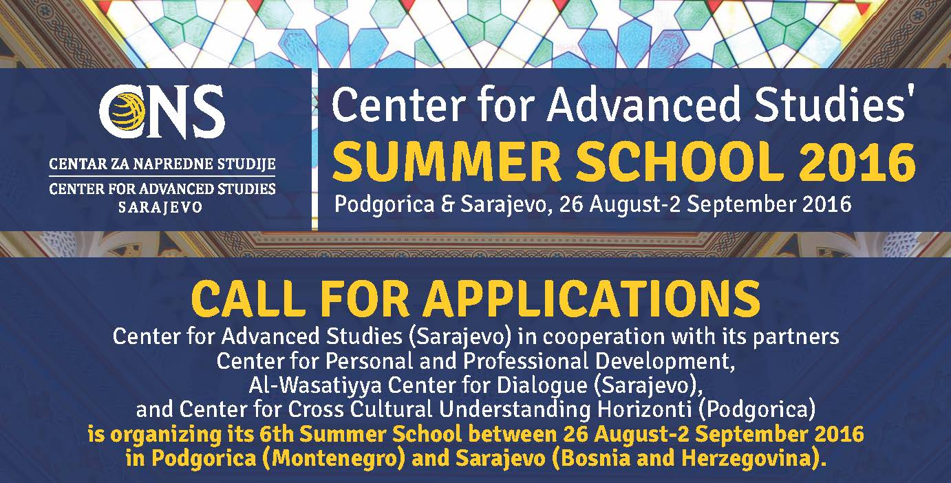 Call for Applications: CNS Summer School 2016