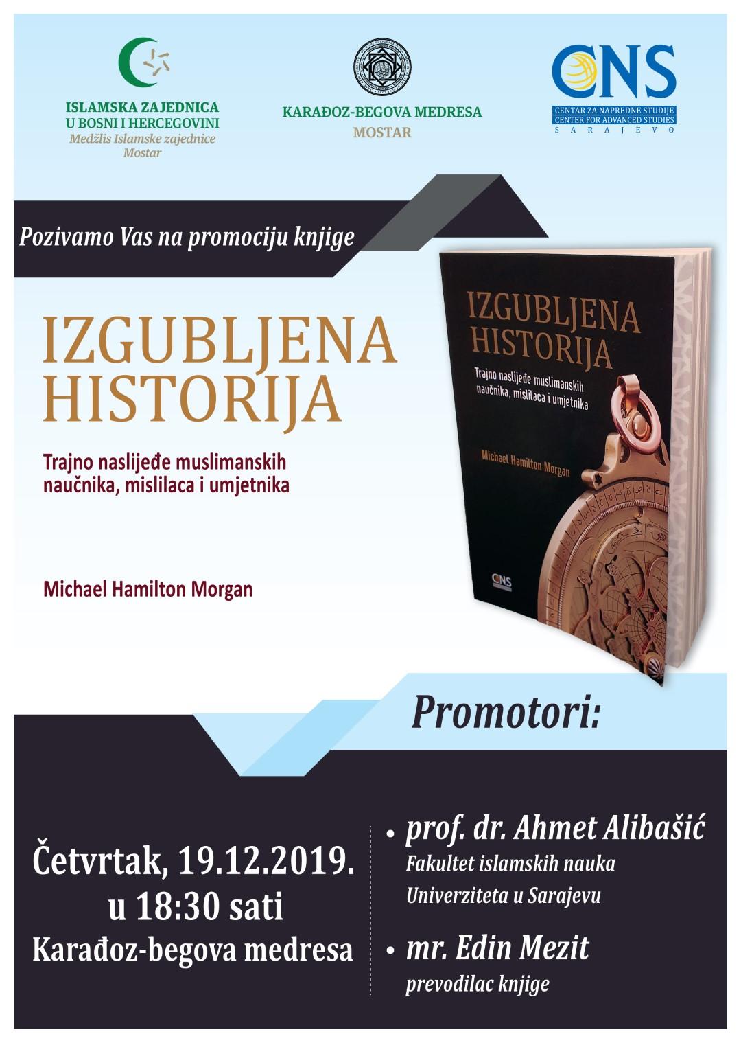 """Promocija knjige """"Izgubljena historija"""" autora Michael H. Morgana u Mostaru"""