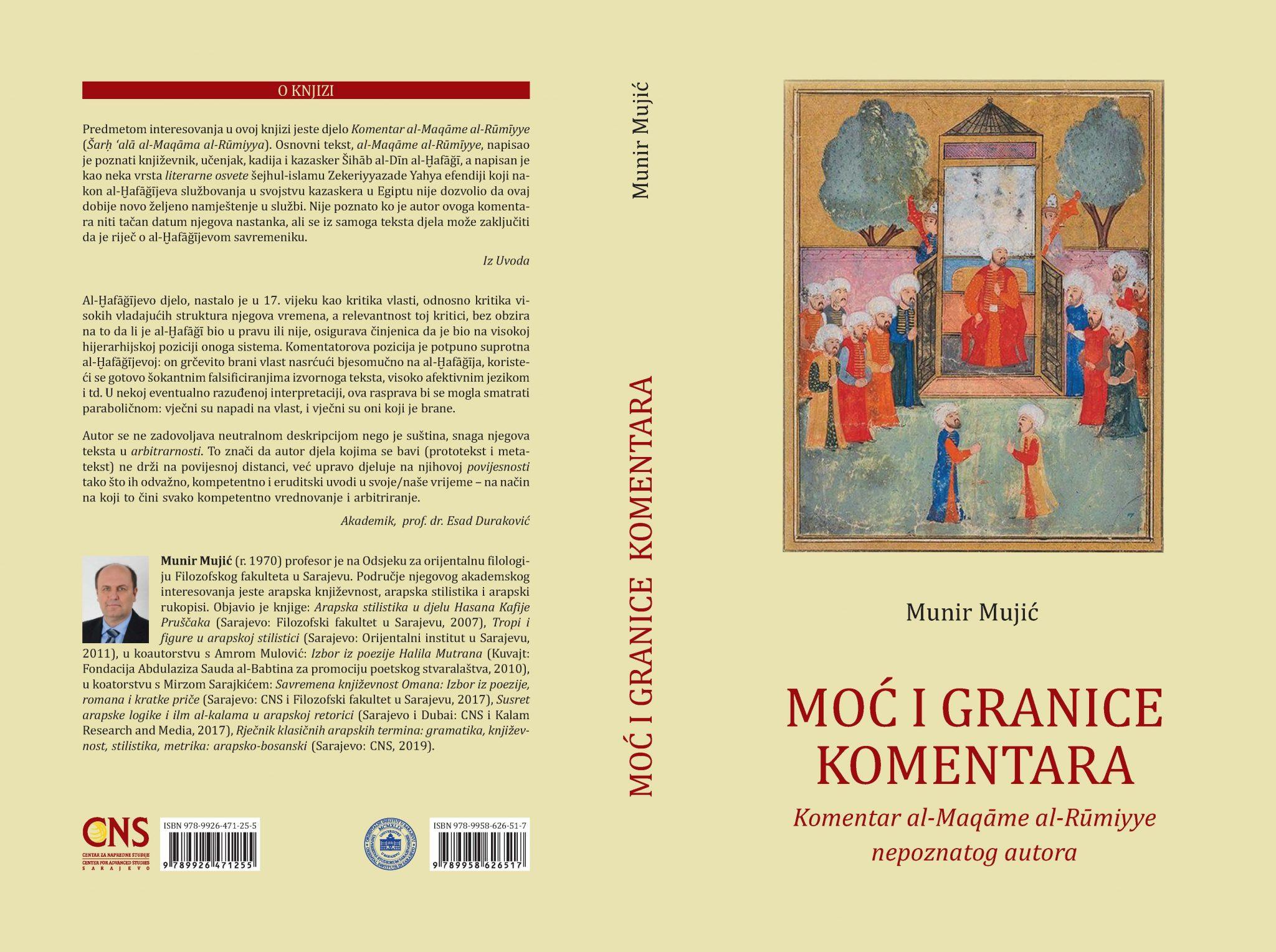 CNS izdanje: Moć i granice komentara -Komentar al-Maqāme al-Rūmiyye nepoznatog autora
