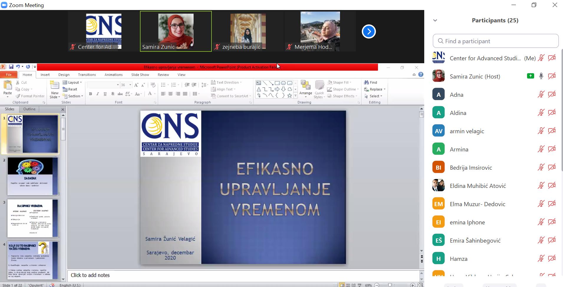 Održana dva webinara u organizaciji CNSa